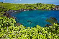 Clear water at Waianapanapa State Park, Maui.