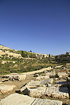Israel, Jerusalem, a view of Kidron valley from the ancient cemetery of the Mount of Olives