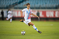 Jacksonville, FL - Thursday, April 05, 2018:  Alex Morgan during a friendly match between USA and Mexico at EverBank Stadium.  USA defeated Mexico 4-1.