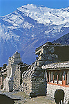 Village With Annapurna In Background