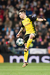 Borussia Dortmund Defender Raphael Guerreiro in action during the Europe Champions League 2017-18 match between Real Madrid and Borussia Dortmund at Santiago Bernabeu Stadium on 06 December 2017 in Madrid Spain. Photo by Diego Gonzalez / Power Sport Images