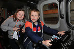 Hannah and Daragh McDonald.at the open day in Clogherhead lifeboat station..Picture: Fran Caffrey / www.newsfile.ie ..