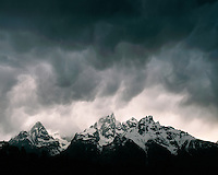 Storm clouds over the Teton Range; Grand Teton National Park, WY