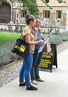 Tourists .Cambridge, U.K - A variety of scenes at the historic university city of Cambridge, England -  September 2nd 2012..Photo by Keith Mayhew