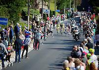 5 remaining breakaway riders up the Schavei climb<br /> <br /> Brabantse Pijl 2014