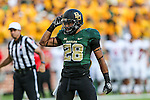 Baylor Bears running back Devin Chafin (28) in action during the game between the Southern Methodist Mustangs and the Baylor Bears at the McLane Stadium in Waco, Texas. Baylor leads SMU 31 to 0 at halftime.