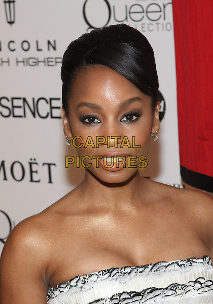 ANIKA NONI ROSE.The Third Annual ESSENCE Black Women In Hollywood Luncheon held at The Beverly Hills Hotel in Beverly Hills, California, USA. .March 4th, 2010 .headshot portrait bare shoulders strapless .CAP/ADM/TC.©T. Conrad/AdMedia/Capital Pictures.