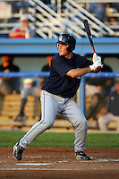 August 22 2008:  Tim Fedroff of the Mahoning Valley Scrappers, Class-A affiliate of the Cleveland Indians, during a game at Dwyer Stadium in Batavia, NY.  Photo by:  Mike Janes/Four Seam Images