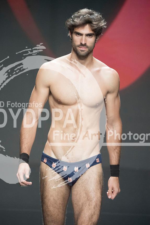 Model Juan Betancourt poses