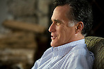 Former Gov. Mitt Romney at home, Belmont, MA, USA, October 30, 2011