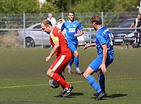 Nick Hölzel (Büttelborn) gegen Nils Wolf (Münster) - Büttelborn 09.09.2018: SKV Büttelborn vs. SV Münster