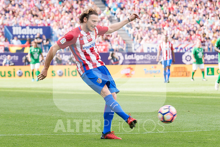 Atletico de Madrid Legends's Diego Forlan and World Legend's XXX during friendly match to farewell  to Vicente Calderon Stadium in Madrid, May 28, 2017. Spain.<br /> (ALTERPHOTOS/BorjaB.Hojas)