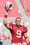 9 September 2006: North Carolina State quarterback Marcus Stone salutes the crowd, pregame. Akron defeated North Carolina State 20-17 at Carter-Finley Stadium in Raleigh, North Carolina in an NCAA college football game.