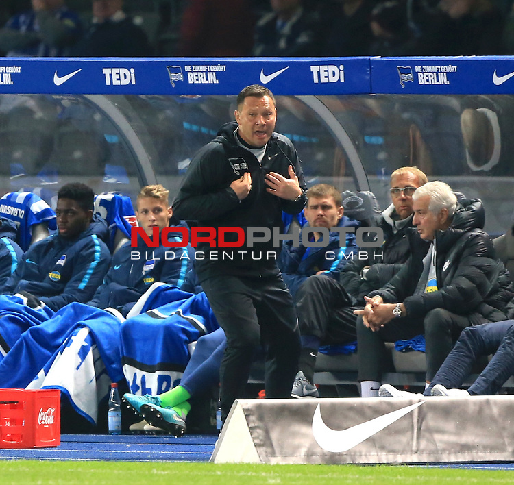03.11.2018, OLympiastadion, Berlin, GER, DFL, 1.FBL, Hertha BSC VS. RB Leipzig, <br /> DFL  regulations prohibit any use of photographs as image sequences and/or quasi-video<br /> <br /> im Bild Cheftrainer (Head Coach) Pal Dardai (Hertha BSC Berlin)<br /> <br />       <br /> Foto &copy; nordphoto / Engler