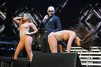 SUNRISE FL - JULY 31: Pitbull performs at The BB&T Center on July 31, 2016 in Sunrise, Florida. Credit: mpi04/MediaPunch