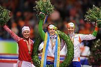SCHAATSEN: HEERENVEEN: IJsstadion Thialf, 22/23-03-2014, Essent ISU WK Allround, Olga Graft, Ireen Wust, Yvonne Nauta, ©foto Martin de Jong