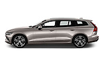 Car driver side profile view of a 2019 Volvo V60 Inscription 5 Door Wagon