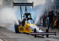 Jun 2, 2018; Joliet, IL, USA; NHRA top fuel driver Richie Crampton during qualifying for the Route 66 Nationals at Route 66 Raceway. Mandatory Credit: Mark J. Rebilas-USA TODAY Sports