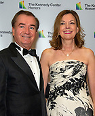 United States Representative Ed Royce (Republican of California) and his wife, Marie, arrive for the formal Artist's Dinner honoring the recipients of the 41st Annual Kennedy Center Honors hosted by United States Deputy Secretary of State John J. Sullivan at the US Department of State in Washington, D.C. on Saturday, December 1, 2018. The 2018 honorees are: singer and actress Cher; composer and pianist Philip Glass; Country music entertainer Reba McEntire; and jazz saxophonist and composer Wayne Shorter. This year, the co-creators of Hamilton­ writer and actor Lin-Manuel Miranda, director Thomas Kail, choreographer Andy Blankenbuehler, and music director Alex Lacamoire will receive a unique Kennedy Center Honors as trailblazing creators of a transformative work that defies category.<br /> Credit: Ron Sachs / Pool via CNP