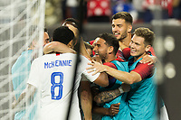 CLEVELAND, OHIO - JUNE 22: USMNT during a 2019 CONCACAF Gold Cup group D match between the United States and Trinidad & Tobago at FirstEnergy Stadium on June 22, 2019 in Cleveland, Ohio.