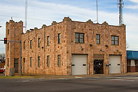 The art deco fire station in Clinton Oklahoma on Route 66.