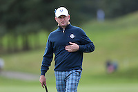 Jamie Donaldson (EUR) during the first practice day ahead of the 2014 Ryder Cup at Gleneagles, Perthshire, Scotland 26th to 28th September 2014. Picture David Lloyd / www.golffile.ie.