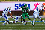 North Texas Mean Green running back DeAndre Torrey (13) in action during the game between the UNT Mean Green and the SMU Mustangs at the Gerald J. Ford Stadium in Fort Worth, Texas.