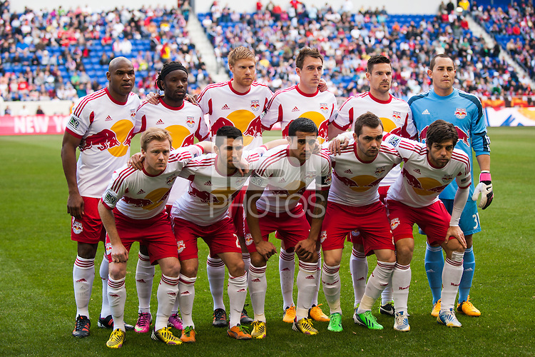 New York Red Bulls starting eleven. The New York Red Bulls defeated the Philadelphia Union 2-1 during a Major League Soccer (MLS) match at Red Bull Arena in Harrison, NJ, on March 30, 2013.