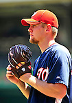 4 July 2010: Washington Nationals pitcher Stephen Strasburg warms up prior to a game against the New York Mets at Nationals Park in Washington, DC. The Mets defeated the Nationals 9-5 in the fourth game and splitting their 4-game series. Mandatory Credit: Ed Wolfstein Photo
