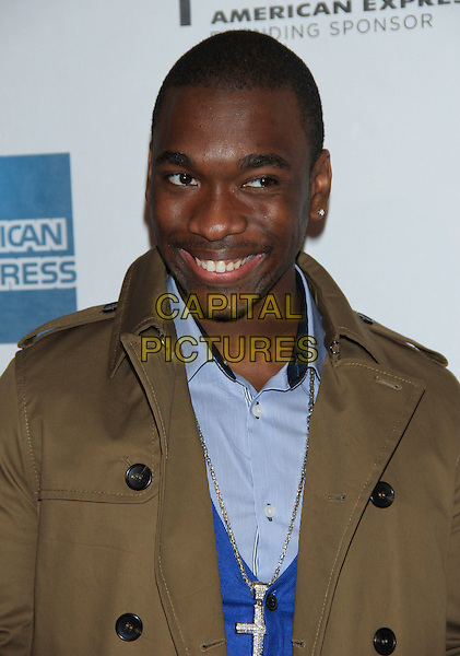 "Jay Pharoah.The 2012 Tribeca Film Festival World Premiere of ""Lola Versus"" at the Tribeca Performing Arts Center, New York, NY, USA..April 24th, 2012.headshot portrait blue shirt brown coat  .CAP/LNC/TOM.©LNC/Capital Pictures."