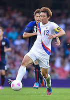 August 10, 2012..South Korea's Koo Ja-cheol in action during bronze medal match at the Millennium Stadium on day fourteen in Cardiff, England. Korea defeat Japan 2-0 to win Olympic bronze medal in men's soccer. ..