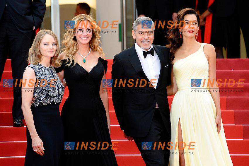 Jodie Foster, Julia Roberts, George Clooney, Amal Alamuddin<br /> Festival di Cannes 2016 <br /> Foto Panoramic / Insidefoto