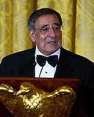 United States Secretary of Defense Leon Panetta makes remarks prior to U.S. President Barack Obama speaking at a dinner to honor our Armed Forces who served in Operation Iraqi Freedom and Operation New Dawn and to honor their families in the East Room of the White House in Washington, D.C. on Wednesday, February 29, 2012..Credit: Ron Sachs / Pool via CNP