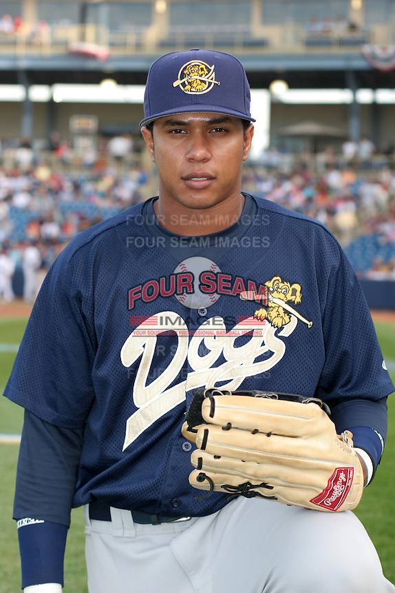 Charleston RiverDogs Jose Tabata before the South Atlantic League All-Star game at Classic Park on June 20, 2006 in Eastlake, Ohio.  (Mike Janes/Four Seam Images)