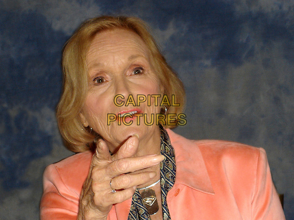 "EVA MARIE SAINT.""Superman Returns"" Press Conference held  at the .Century Plaza Hotel in Century City, .California, USA, June 11th 2006..portrait headshot fingers hand gesture.Ref: AW.www.capitalpictures.com.sales@capitalpictures.com.©Anita Weber/Capital Pictures."