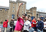 Real Madrid fans outside the castle during the Champions League Final match at the National Stadium, Cardiff. Picture date: June 3rd, 2017. Pic credit should read: David Klein/Sportimage