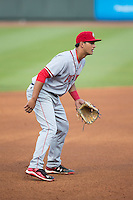 Potomac Nationals third baseman Drew Ward (17) on defense against the Winston-Salem Dash at BB&T Ballpark on April 30, 2015 in Winston-Salem, North Carolina.  The Nationals defeated the Dash 5-4..  (Brian Westerholt/Four Seam Images)