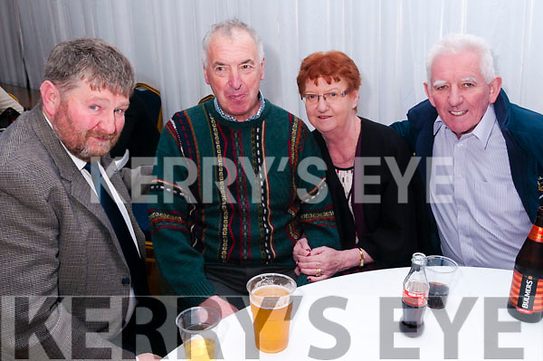 Finuge GAA Club Dinner Dance: Attending the Finuge GAA Club dinner dance in the marquee on saturday night last were John Dowling, John Cronin & Kathleen & Haulie Liston.