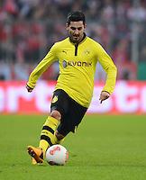 FUSSBALL  DFB-POKAL  VIERTELFINALE  SAISON 2012/2013    FC Bayern Muenchen - Borussia Dortmund          27.02.2013 Ilkay Guendogan (Borussia Dortmund) Einzelaktion am Ball