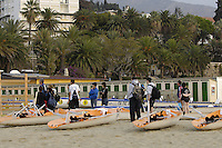 San Remo, ITALY, General view before the crew take part in the Sunday open competition,  2008 FISA Coastal World Championships. Sunday 19/10/2008. [Photo, Peter Spurrier/Intersport-images] Coastal Rowing Course: San Remo Beach, San Remo, ITALY Equipment,