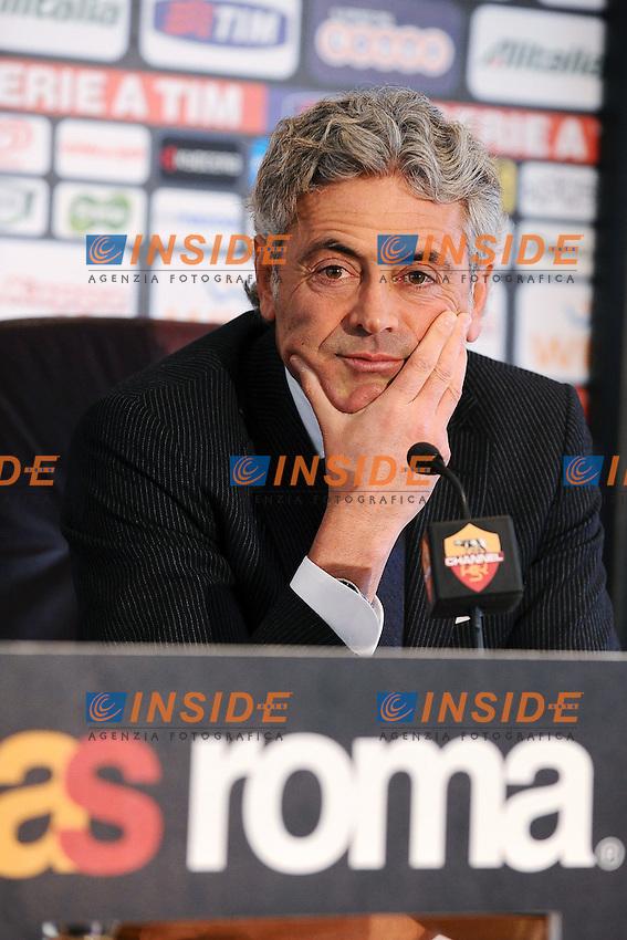 Franco Baldini.Roma 6/02/2012 .Football Calcio 2011/2012 .Conferenza stampa .Foto Insidefoto Andrea Staccioli