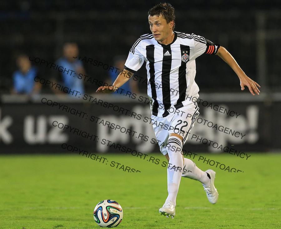 Fudbal Football Soccer<br /> UEFA Champions league-2nd qualifying round<br /> Partizan v HB Torshavn (Faroe Islands)<br /> Sasa Ilic<br /> Beograd, 07.15.2014.<br /> foto: Srdjan Stevanovic/Starsportphoto &copy;