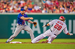26 July 2013: New York Mets infielder Daniel Murphy in action against the Washington Nationals at Nationals Park in Washington, DC. The Nationals bounced back from their loss in the first game of their day/night doubleheader, with a 2-1 nightcap win. Mandatory Credit: Ed Wolfstein Photo *** RAW (NEF) Image File Available ***