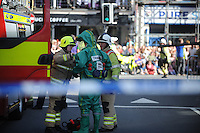 Pictured: Saturday 17 September 2016<br /> Re: Roald Dahl&rsquo;s City of the Unexpected has transformed Cardiff City Centre into a landmark celebration of Wales&rsquo; foremost storyteller, Roald Dahl, in the year which celebrates his centenary.<br /> Emergency services got involved, staging a rescue at the start of the events.
