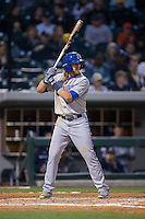 Taylor Motter (11) of the Durham Bulls at bat against the Charlotte Knights at BB&T BallPark on April 14, 2016 in Charlotte, North Carolina.  The Bulls defeated the Knights 2-0.  (Brian Westerholt/Four Seam Images)