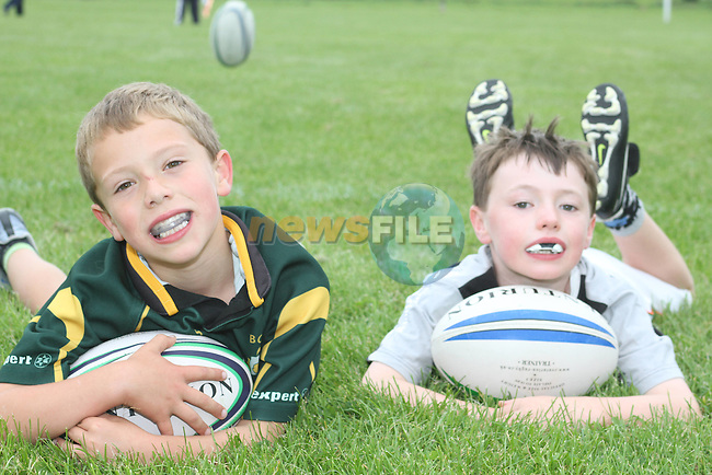 Lucas McKee and Eoin Cummins at the Summer Camp in Boyne Rugby Football Club...Picture Jenny Matthews/Newsfile.ie