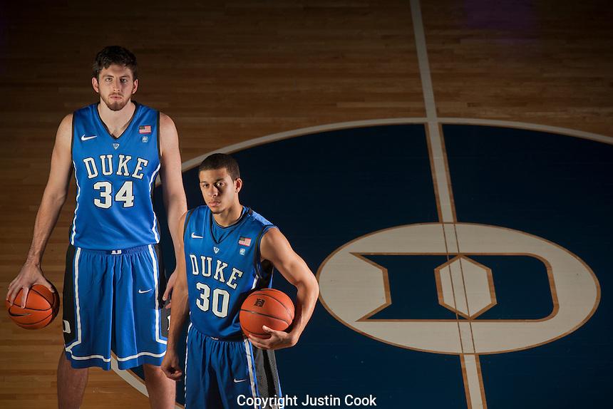 Duke University Basketball, Ryan Kelly  and Seth Curry at Cameron Indoor Stadium.
