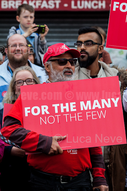 London, 07/06/2017. Documenting the last day of Jeremy Corbyn and the Labour Party electoral Campaign on the eve of the General Election 2017: Harrow.<br />