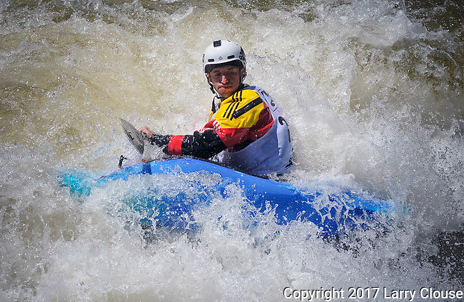 June 9, 2017 - Vail, Colorado, U.S. - France's, Mathieu Dumoulin, in the Freestyle Kayak competition during the GoPro Mountain Games, Vail, Colorado.  Adventure athletes from around the world meet in Vail, Colorado, June 8-11, for America's largest celebration of mountain sports, music, and lifestyle.