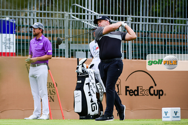 Daniel Summerhays (USA) watches his tee shot on 10 during round 2 of the Valero Texas Open, AT&amp;T Oaks Course, TPC San Antonio, San Antonio, Texas, USA. 4/21/2017.<br /> Picture: Golffile | Ken Murray<br /> <br /> <br /> All photo usage must carry mandatory copyright credit (&copy; Golffile | Ken Murray)